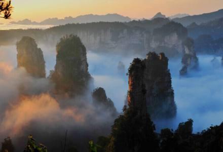张家界武陵源,世上少有以地域命名地貌的绝美风光